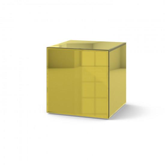 Зеркальный столик Кубби яркое золото в интернет-магазине ROSESTAR фото