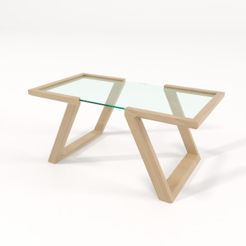 Журнальный столик со стеклом Фит