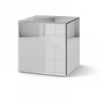 Зеркальный столик Кубби серебро