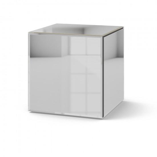 Зеркальный столик Кубби серебро в интернет-магазине ROSESTAR фото