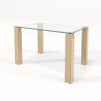 Стол обеденный со стеклом Логга