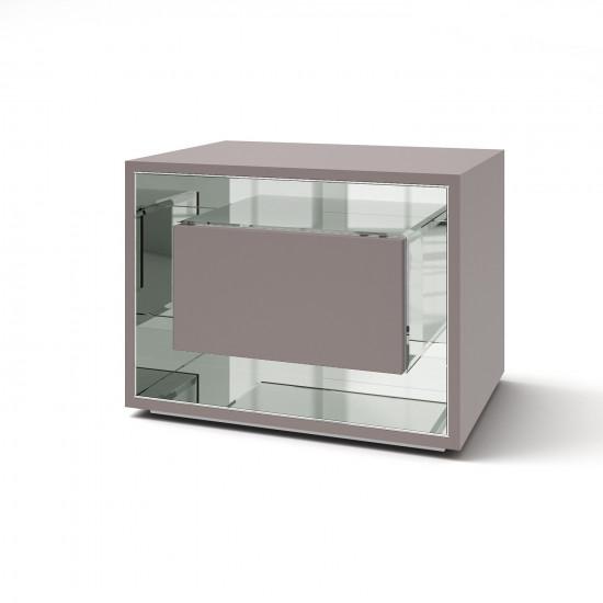 Зеркальная тумба Фэнси мини грэй серебро в интернет-магазине ROSESTAR фото