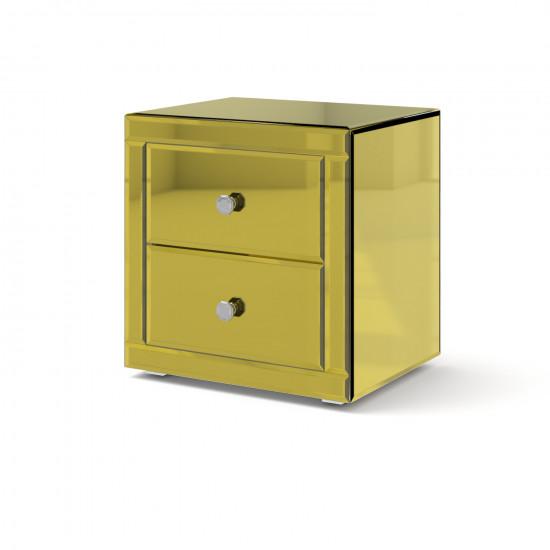 Зеркальная тумба Самили яркое золото в интернет-магазине ROSESTAR фото