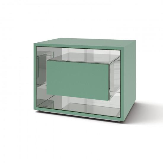 Зеркальная тумба Фэнси мини бирюза серебро в интернет-магазине ROSESTAR фото