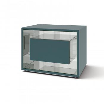 Зеркальная тумба Фэнси мини сине-зеленый серебро