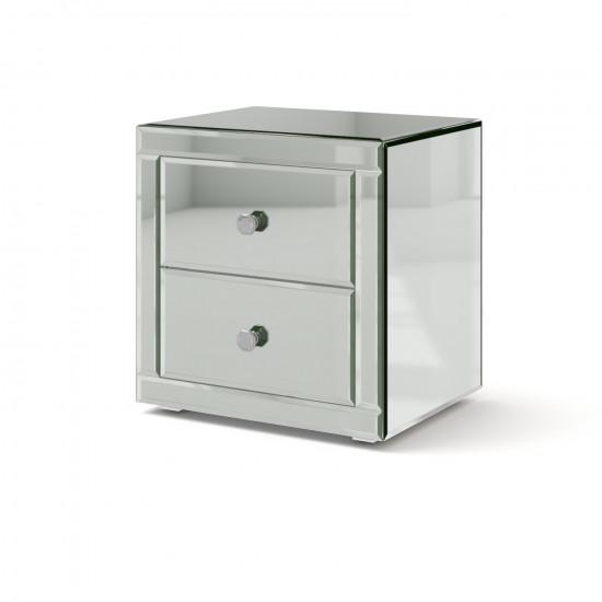 Зеркальная тумба Самили серебро в интернет-магазине ROSESTAR фото