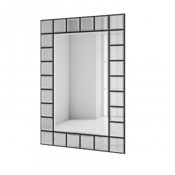 Зеркальное панно Слайс черный