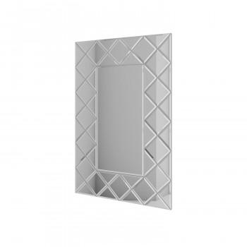 Зеркальное панно Квин серебро (с расшивкой)