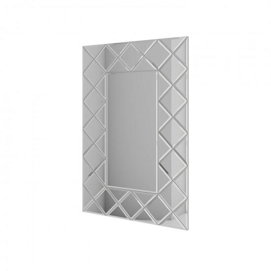 Зеркальное панно Квин серебро (с расшивкой) в интернет-магазине ROSESTAR фото