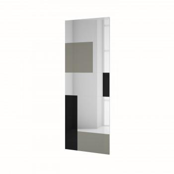 Зеркальное панно Стрэйз серый