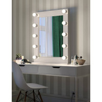 Гримерное настольное зеркало в раме с подсветкой LED-лампочками Ава