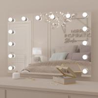 Гримерное настенное зеркало с подсветкой LED-лампочками Хилари 100х70 см