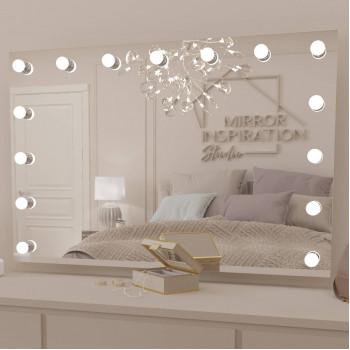 Гримерное настенное зеркало со светодиодными лампами Хилари 120х80 см