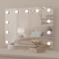 Гримерное зеркало с подсветкой лампочками Хилари 80х60 см