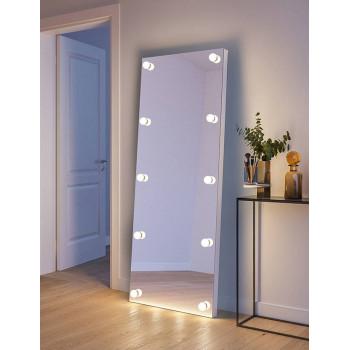 Напольное гримерное зеркало с подсветкой лампочками Дженнифер 80х180 см