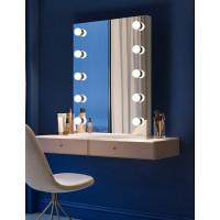 Гримерное настольное зеркало с подсветкой LED-лампочками Шарлиз