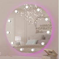 Круглое гримерное зеркало с задней RGB подсветкой Мэрил