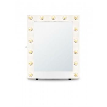 Гримерное зеркало с подсветкой лампочками «Эллен»