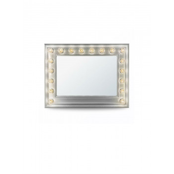 Гримерное зеркало с подсветкой лампочками «Хэйли»