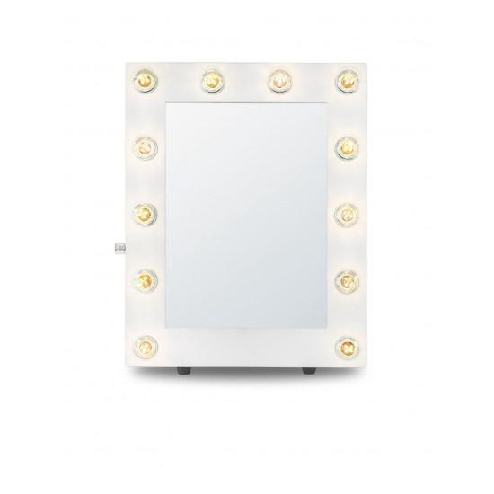 Гримерное зеркало с подсветкой лампочками «Хлоя» Белое