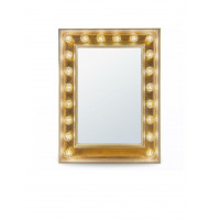 Гримерное зеркало с подсветкой лампочками «Клара»