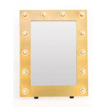 Гримерное зеркало с подсветкой лампочками «Майли»