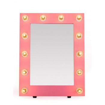 Гримерное зеркало с подсветкой лампочками «Мелинда»