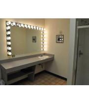 Гримерное зеркало большое с подсветкой лампочками «Николь»