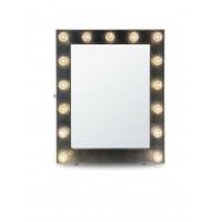 Гримерное зеркало в черной раме с подсветкой лампочками «Элиза»