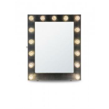 Гримерное зеркало с подсветкой лампочками «Элиза»