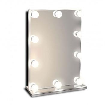 Гримерное зеркало с подсветкой лампочками Hollywood