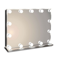 Гримерное настольное зеркало с подсветкой лампочками Hollywood 2