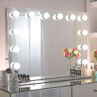 Гримерное настольное зеркало с подсветкой лампочками Hollywood 3