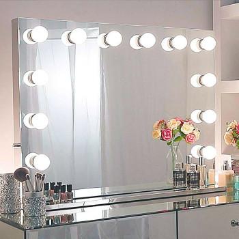 Гримерное зеркало с подсветкой лампочками Hollywood 3