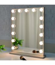Гримерное зеркало с подсветкой лампочками Hollywood 4