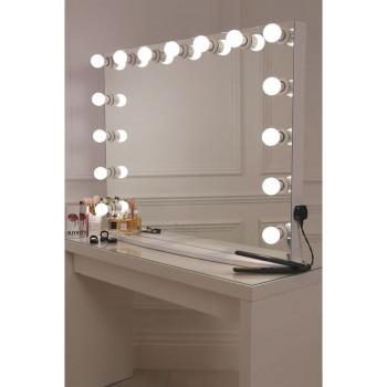Гримерное зеркало с подсветкой лампочками Hollywood 6