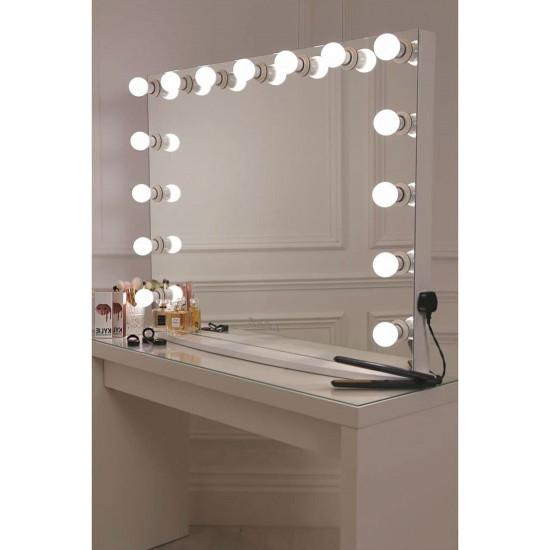 Настольное гримерное зеркало с подсветкой лампочками Hollywood 6