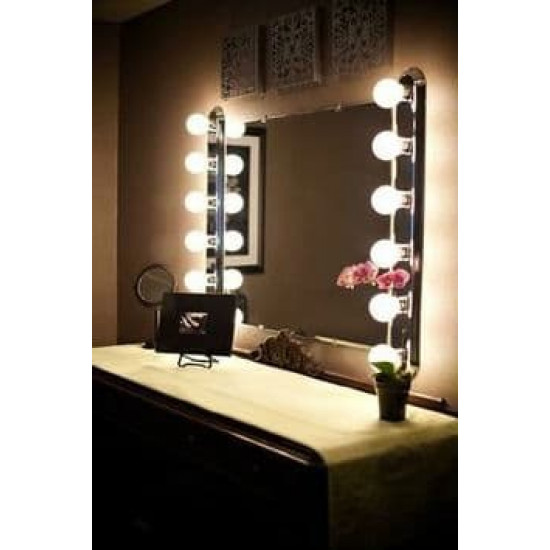Гримерное зеркало с подсветкой лампочками Hollywood 7 в интернет-магазине ROSESTAR фото