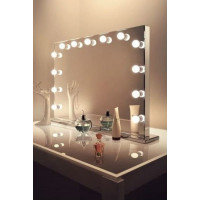 Гримерное зеркало с подсветкой лампочками Hollywood 8