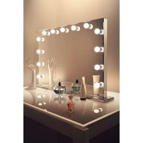 Гримерное зеркало с подсветкой лампочками Hollywood 8 в интернет-магазине ROSESTAR фото