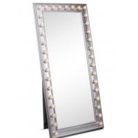 Гримерное зеркало большое напольное в полный рост с подсветкой лампочками «Грэйс»