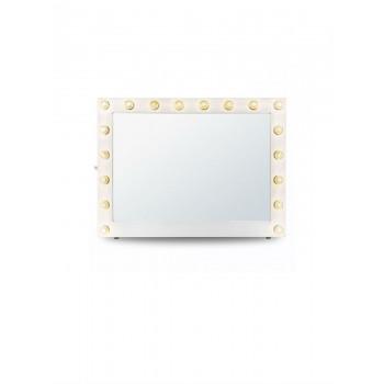 Гримерное зеркало с подсветкой лампочками «Клаудия»
