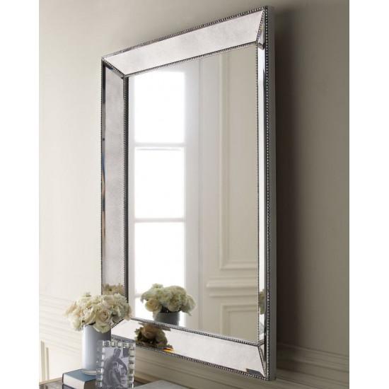 """Зеркало настенное в зеркальной раме """"Франческо"""" Серебро в интернет-магазине ROSESTAR фото"""
