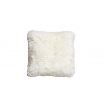 Меховая белая квадратная подушка двусторонняя 40*40