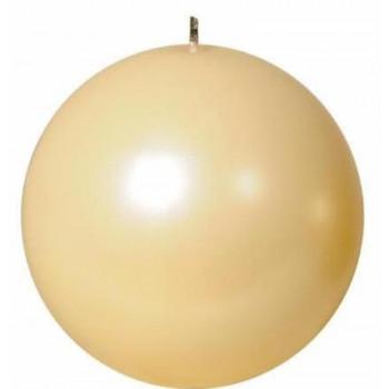 Свеча шар 10см жемчужно кремовая 100051