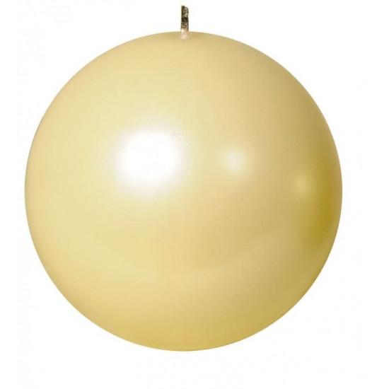 Свеча шар 16см жемчужно кремовая 100061 в интернет-магазине ROSESTAR фото
