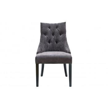 Велюровый стул на деревянных ножках коричневый 89*46*52см PJC236-PJ843