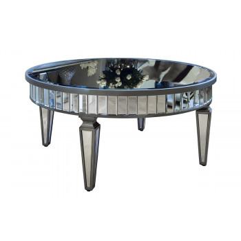 Зеркальный стол круглый низкий 914х914х416 KFC247