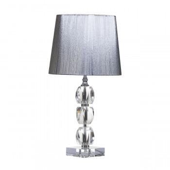 Хрустальная настольная лампа с серебряным абажуром X281205