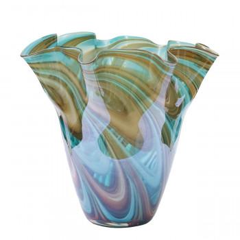 Стеклянная цветная ваза H28D30 HJ6016-28-G4